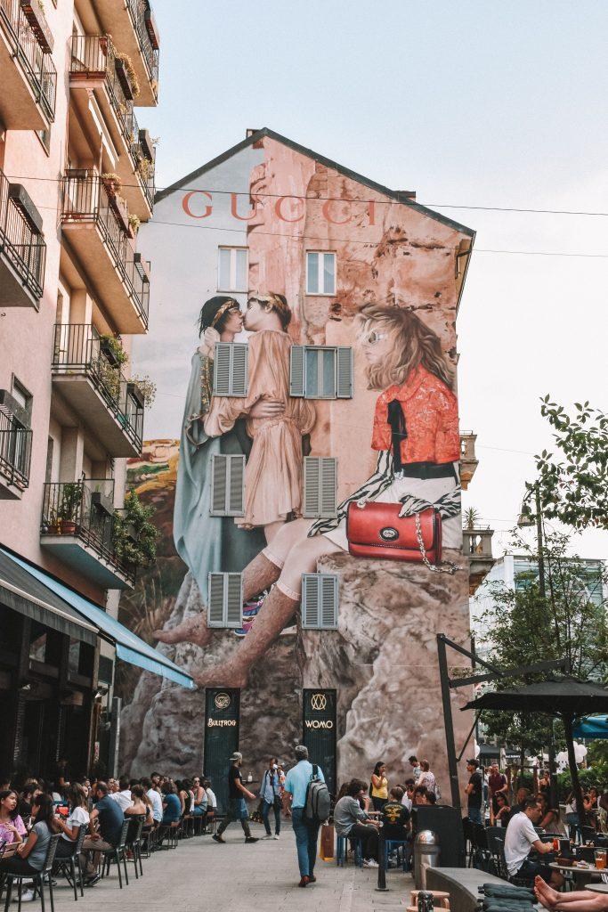 gucci art wall milano